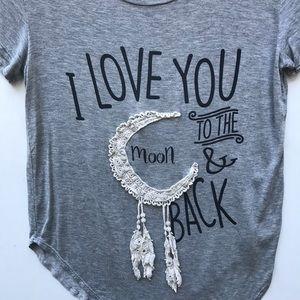 April Spirit Tops - april spirit / to the moon and back soft tee shirt